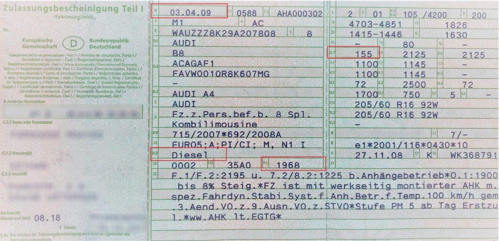 kfz steuer berechnen fahrzeugschein