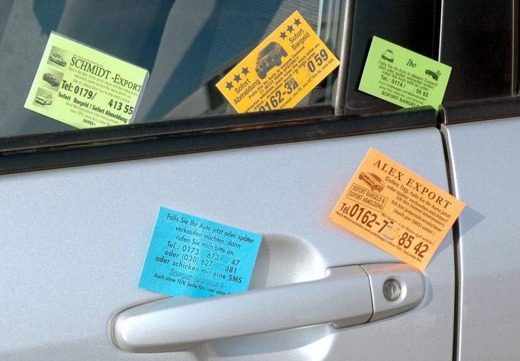 auto verkaufen berlin kärtchenhändler
